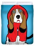 Winter Dog  Duvet Cover