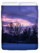 Winter Evening In Grants Pass Duvet Cover