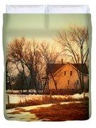Winter Farhouse Duvet Cover