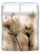 Winter Flowers II Duvet Cover