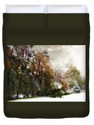 Winter Foliage Duvet Cover