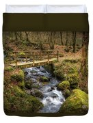 Winter Footbridge Duvet Cover