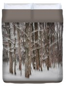 Winter Forest Abstract II Duvet Cover