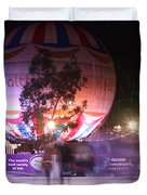 Winter Gardens Ice Rink And Balloon Bournemouth Duvet Cover