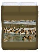 Winter Geese - 06 Duvet Cover