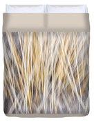 Winter Grass Abstract Duvet Cover