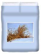 Winter Grasses II Duvet Cover