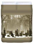 Winter Graveyard Crows Duvet Cover