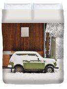 Under Snow Duvet Cover