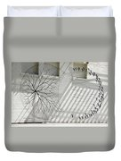 Winter Haven Abstract Duvet Cover
