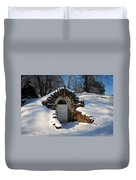 Winter Hobbit Hole Duvet Cover