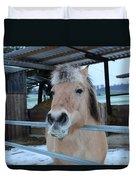 Winter Horse Duvet Cover