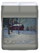 Winter House Duvet Cover