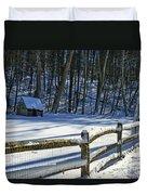 Winter Hut Duvet Cover