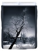 Winter In Central Park Duvet Cover