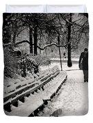 Winter In Central Park Duvet Cover