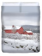 Winter In Connecticut Square Duvet Cover