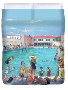 Winter In Florida Duvet Cover