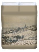 Winter In Giverny Duvet Cover