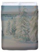 Winter In Gyllbergen Duvet Cover