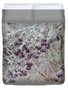 Winter In Lila Duvet Cover