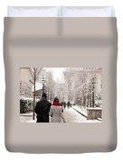Winter In London Duvet Cover