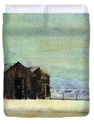 Winter In Montana Duvet Cover