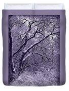 Winter In Purple Duvet Cover