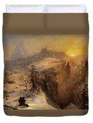 Winter In Switzerland Duvet Cover