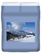 winter in the Bavarian alps 1 Duvet Cover