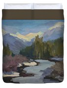 Winter In The Cascade Mountains Duvet Cover