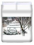 Winter In The Park Duvet Cover