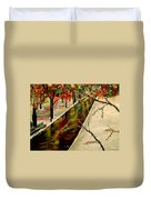 Winter In The Park  Duvet Cover by Mark Moore