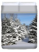 Winter In The Pines Duvet Cover