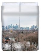 Winter In Toronto Duvet Cover