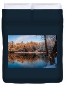 Winter Lake Reflections Duvet Cover