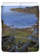 Winter Landscape Detail North Wales Duvet Cover