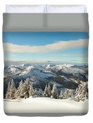 Winter Landscape In British Columbia Duvet Cover