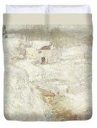 Winter Landscape Duvet Cover by John Henry Twachtman