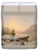 Winter Landscape Duvet Cover by Mortimer L Smith