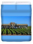 Winter Lettuce Harvest Duvet Cover