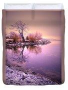 Winter Light Reflected Duvet Cover