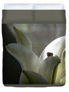 Winter Lily Duvet Cover