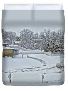 Winter Lines Duvet Cover
