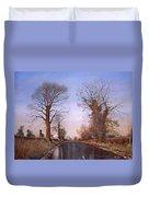 Winter Morning On Calverton Lane Duvet Cover