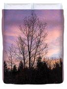 Winter Morning Sky Duvet Cover