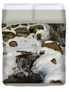 Winter Mountain Stream Duvet Cover