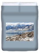 Winter Mt. Timpanogos And Deer Creek Reservoir Duvet Cover