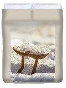 Winter Mushrooms Duvet Cover