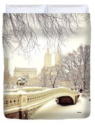 Winter - New York City - Central Park Duvet Cover